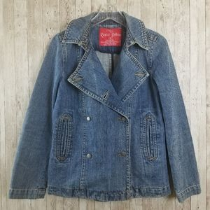 NEW Rustic Denim XL Double Breasted Jean Jacket